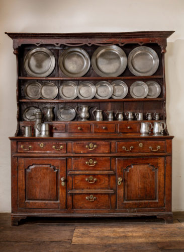 A Fine Enclosed High Dresser Mid-Wales, possibly Snowdonia, circa 1740