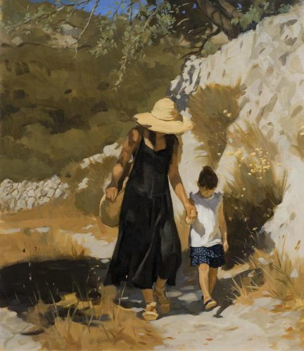 NEALE WORLEY RP NEAC (b.1962) 'Sunny Day' Oil on canvas 16