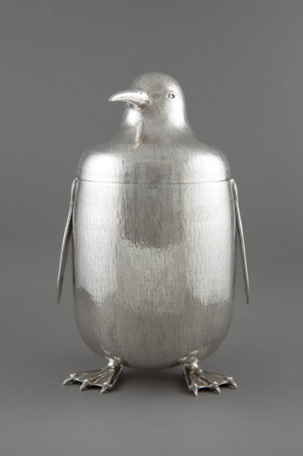 A sterling silver Portuguese penguin wine cooler Country: Portugal Period: Modern Dimensions: 26 cm high Weight: 1,500 g