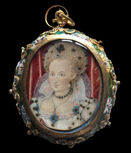 Queen Anne of Denmark, wife of King James I of England (and VI of Scotland) circa 1603, School of Nicholas Hilliard