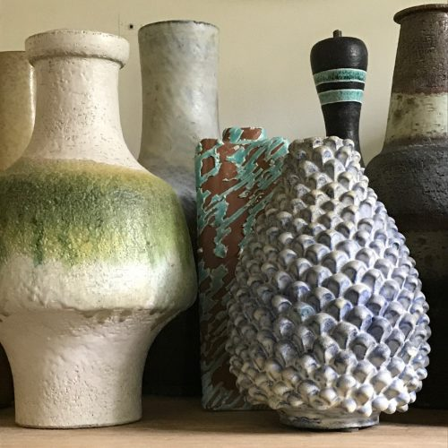 19 studio vases and lamp bases by Marcello Fantoni