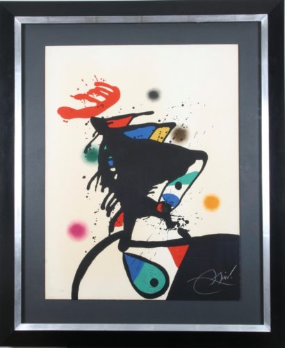 'Montroig IV' Joan Miro Rare artist's proof aside from the edition of 30 Signed colour lithograph published by Edicions Polígrafa, Barcelona, 1973
