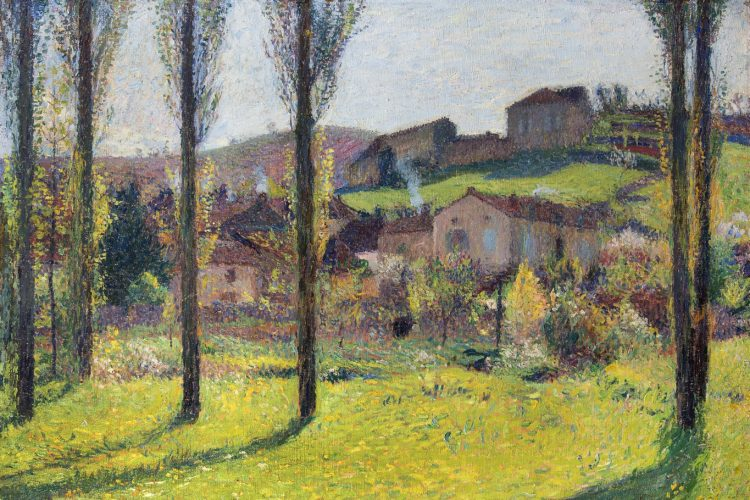 HENRI MARTIN (1860 – 1943) Labastide-du-Vert, 1916 Oil on canvas 69.85 x 99.06cms / 27½ x 39 ins