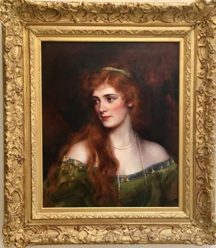 A portrait of an Irish American Lady Oil on Canvas by Carl J Blenner (1864 - 1952, USA) 30