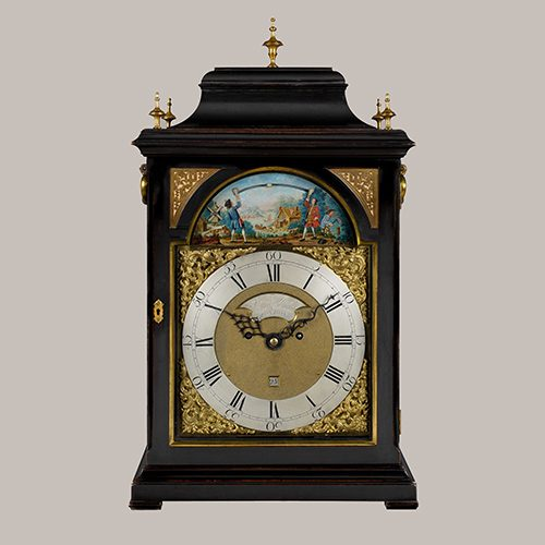 A superb 18th century George III period ebonised table clock, by Samuel West, circa 1760