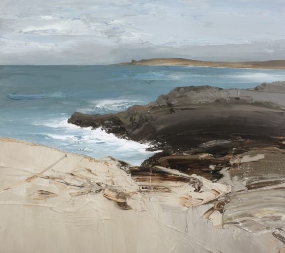 Chris Bushe RSW Watching the Waves, The Arches Oil on board 40 x 45 ins (102 x 114 cm)