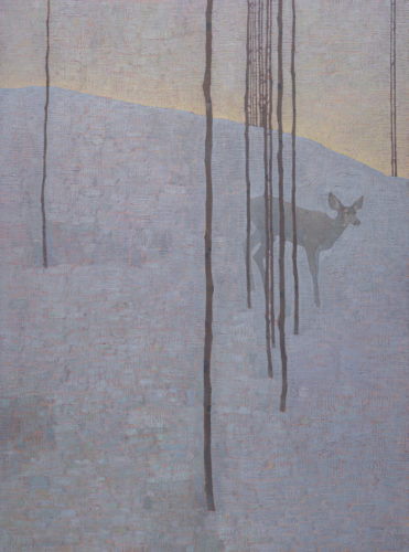 David Grossmann Midwinter Dusk Oil on linen over panel 40 x 30ins (101.6 x 76.2cm)