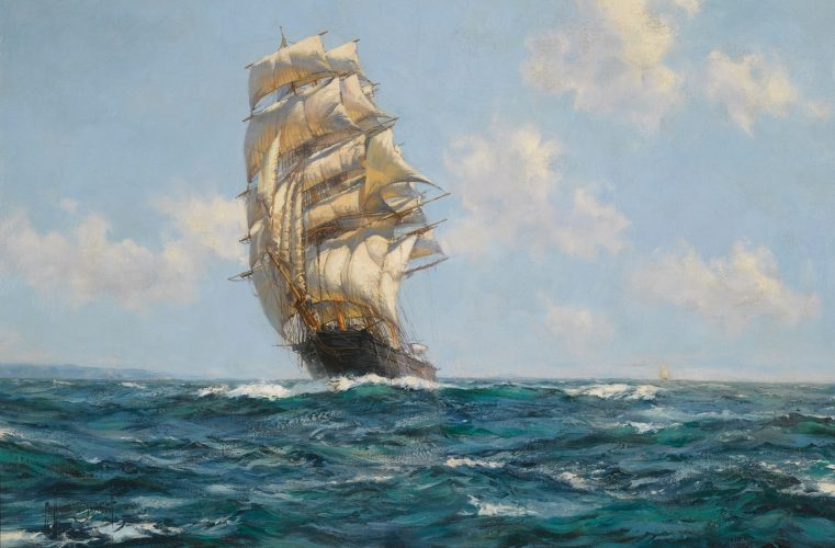 "MONTAGUE DAWSON, RSMA, FRSA (British, 1895-1973) ""The Southern Cross"" Oil on canvas (24 x 36 in – 61 x 91.4 cm)"