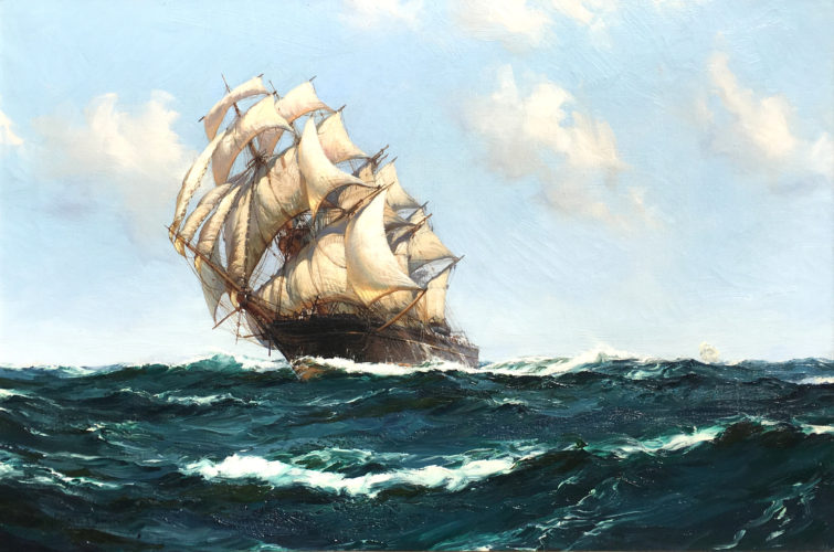 MONTAGUE DAWSON 'The Boundless Ocean' Oil on canvas ~ signed ~ 20 x 30 inches