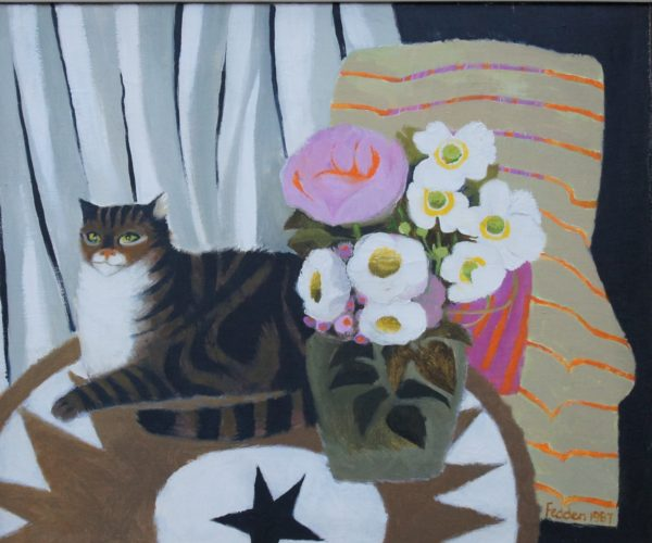 "Mary Fedden RA (1915 - 2012) ""The Table Top Star"" Oil on Canvas. Signed"