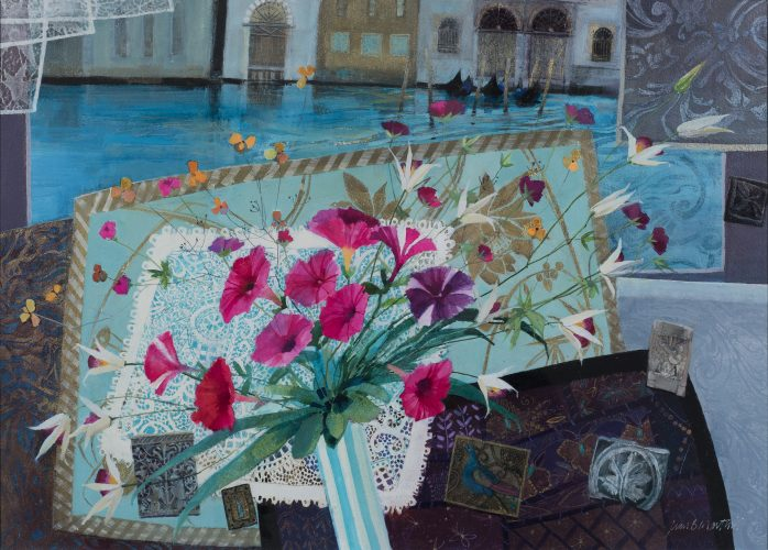 Jean B Martin 'Fragments of Venice' Mixed media 70 x 52 cm