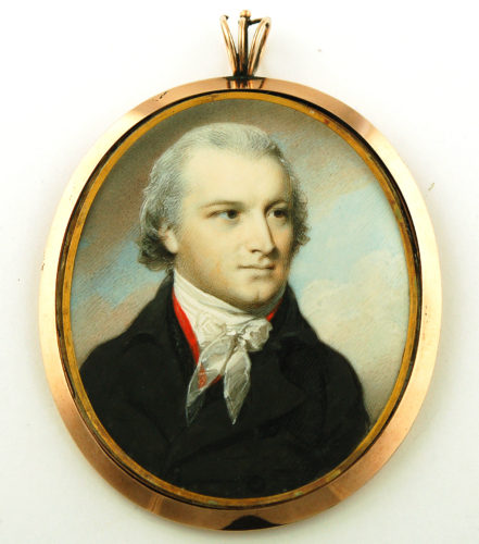 Portrait miniature of Judge Rayner by George Engleheart c.1795