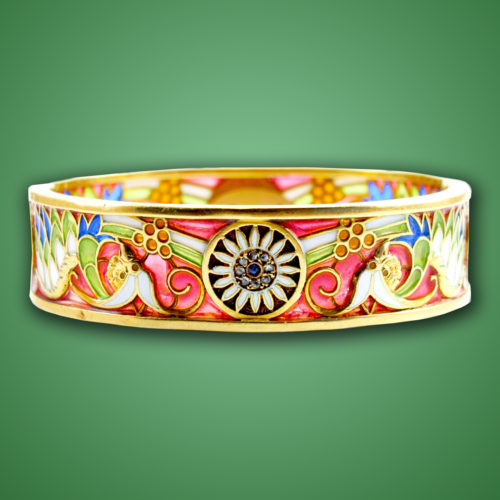 Masriera Enamel and Gemset Bangle, ca. 1920s