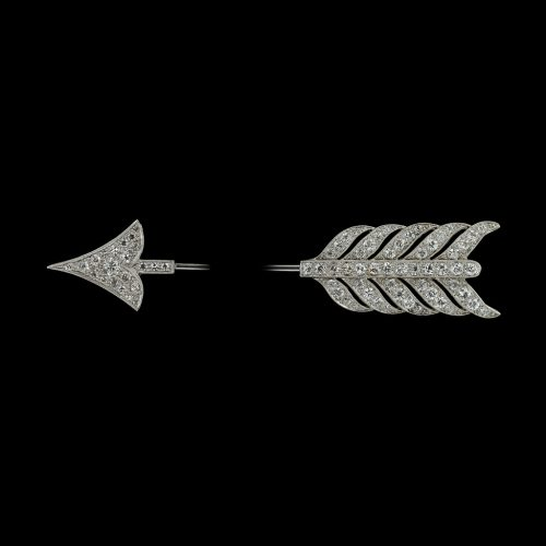 Not a brooch but a 1920's diamond arrow jabot pin