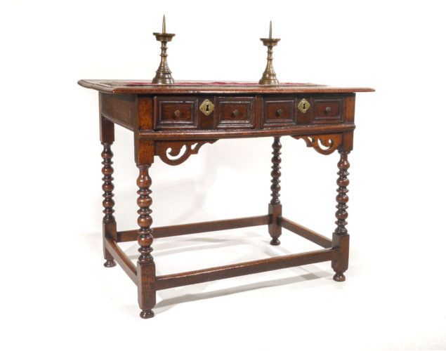 A Late 17th Century Oak Side Table English, possibly Derbyshire, circa 1690.