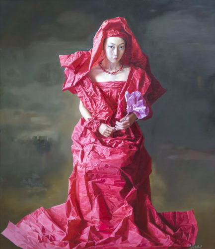 Zeng Chuanxing 'Red Paper Bride', 2010, Oil on canvas, 150 x 130 cm