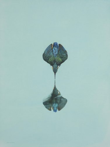 Tim Hayward Reflection - Turquoise Watercolour and gouache on Arches 300gsm 24 x 18ins (61 x 45.7cm)