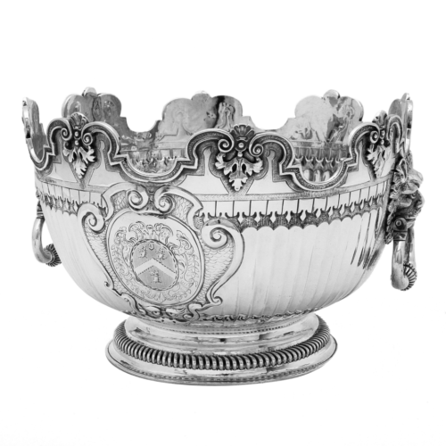 A fine, William III, Monteith bowl, London 1700, by Francis Garthorne.