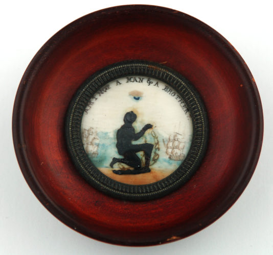 Anti-slavery plaque- wax and watercolour on ivory English, c.1795