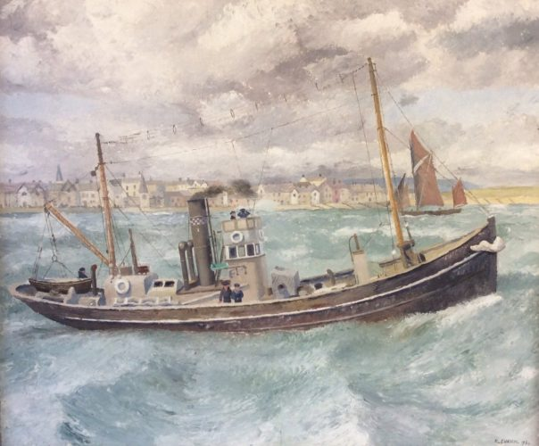 Richard Eurich 1903-1992 THE TRAWLER, 1934 Oil on canvas 20 x 24 in 50.8 x 61 cm