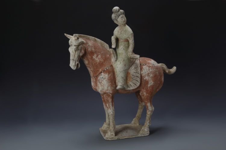 Chinese Horse and Rider Statue Tang Dynasty (618-906 AD)