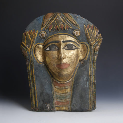 Egyptian Cartonnage Mummy Mask c. Ptolemaic Period (323 B.C. - 30 B.C.)