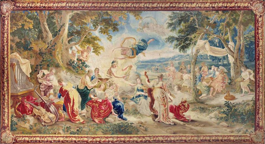 'The Marriage of Psyche' Brussels, XVIIIth century Dimension: 300 x 600 cm Composition: Wool & silk Provenance: Private collection
