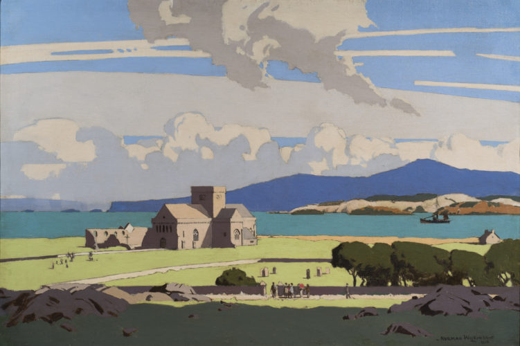 Norman Wilkinson CBE PRI (1878 – 1971) 'Iona Cathedral' Oil on canvas, signed lower right & dated 30 x 45 inches (76 x 114 cm)