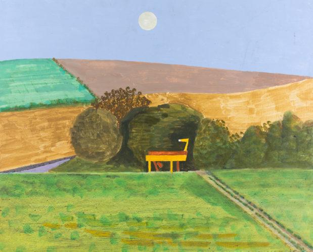 KENNETH ROWNTREE (1915-1997) The Threshing Machine Oil 40 x 50 cm