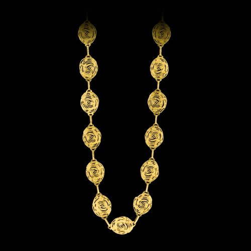 18 carat long chain all hand made and with an industrial edge