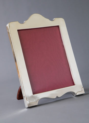 A wide selection of silver photo frames in stock.