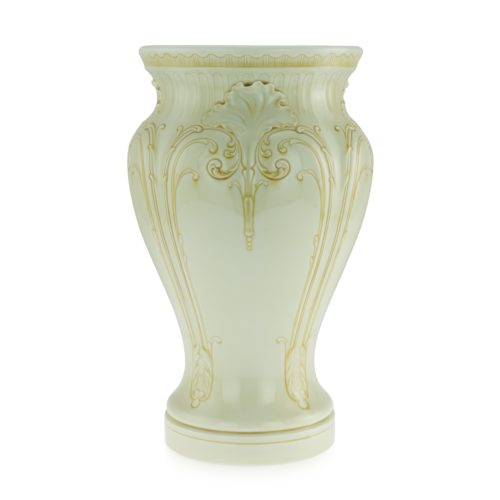 A rare Sèvres vase decorated with yellow enamel, circa 1892