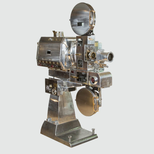 A 35 mm Gaumont-Kalee model 21 cinema projector. Circa 1952.