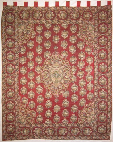 """An Ottoman embroidered cover, circa 1750-1800 6'7"""" (201cm) high and 5'4½"""" (164cm) wide"""