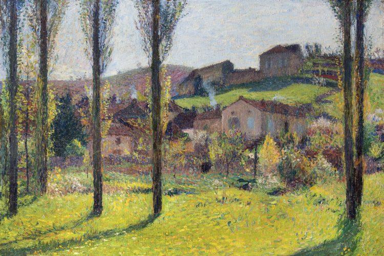 HENRI MARTIN (1860 – 1943) Labastide-du-Vert, 1916 Oil on canvas 69.85 x 99.06cms / 27½ x 39 ins