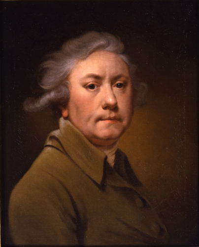 JOSEPH WRIGHT OF DERBY Self-Portrait c.1973 Oil painting on canvas 21 1/2 x 17 1/8 inches