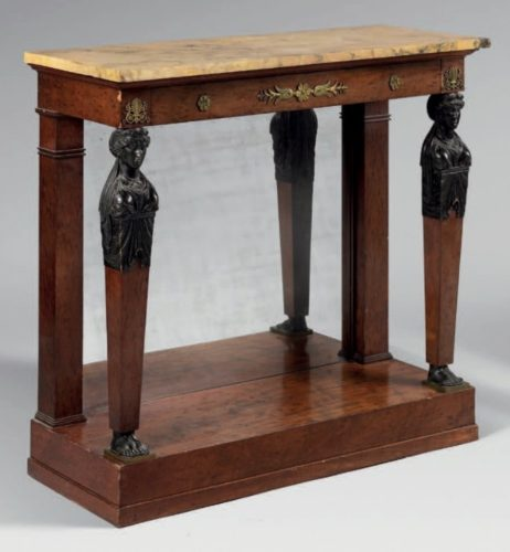 A good pair of 1st empire period console tables.