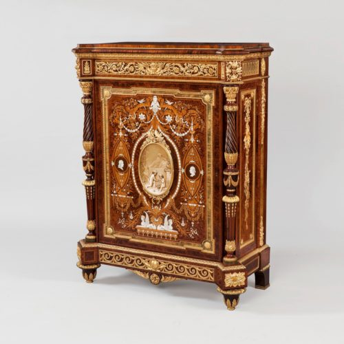 A Magnificent Royal Cabinet by Holland & Sons, commissioned by Kind Edward VII (as Prince of Wales) for Marlborough House, Circa 1865