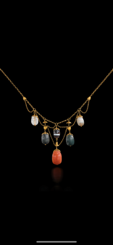 An Egyptian Revival necklace by Tiffany and Co circa 1870