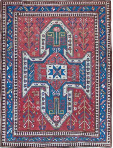Antique Sewan Kazak rug, Caucasus, circa 1880 - 237 x 178 cm