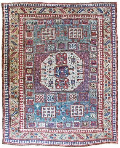 Antique Karachov Kazak rug, Caucasus, circa 1870 - 232 x 180 cm