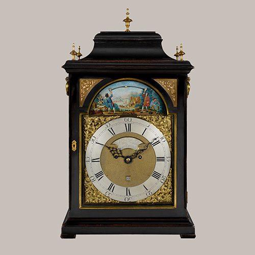 A superb 18th century George III period ebonised table clock, by Samuel West, circa 1760