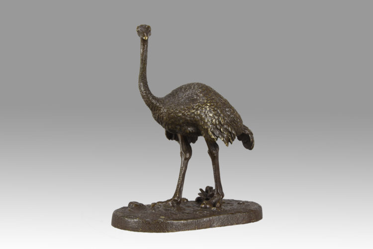 Ostrich by Alfred Barye - £2,350 - 21 cm High