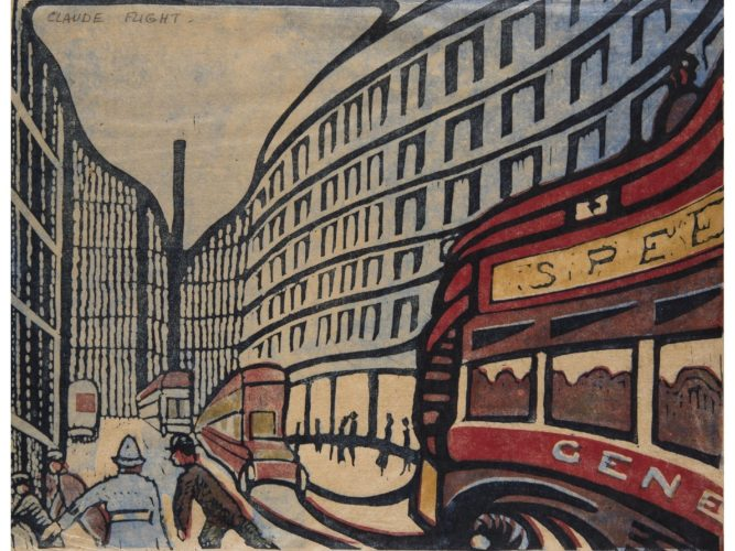 CLAUDE FLIGHT (1905 – 1983), 'Speed' Linocut. From an Edition of 50, plus a further US Edition of 50.