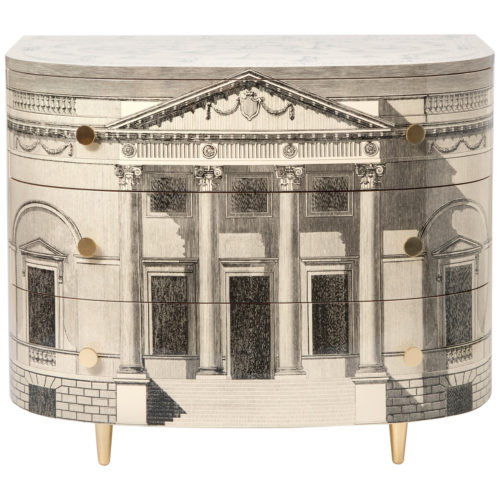 Barnaba Fornasetti curved chest of drawers