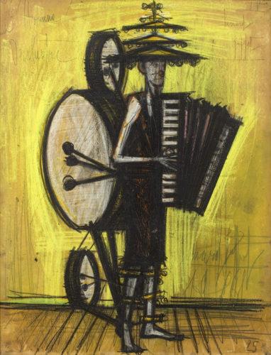 """Bernard Buffet (French, 1928 - 1999) """"L'Homme Orchestre"""""""
