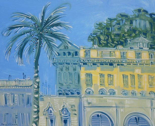 Alan Halliday - 'The atelier of Henri Matisse, Place Charles Felix, Nice' Oil on canvas 83cm x 100cm