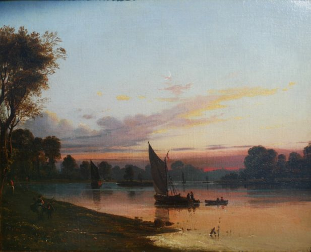 James Francis Danby (1816-1875) View from Richmond Looking West. Signed and inscribed on reverse with title. 10 ins x 14ins
