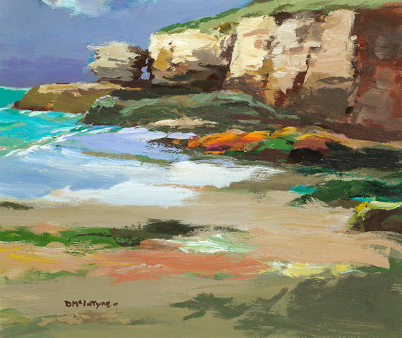 Donald McIntyre, Cliffs, North Cornwall, Acrylic on Board, 20 x 24 inches
