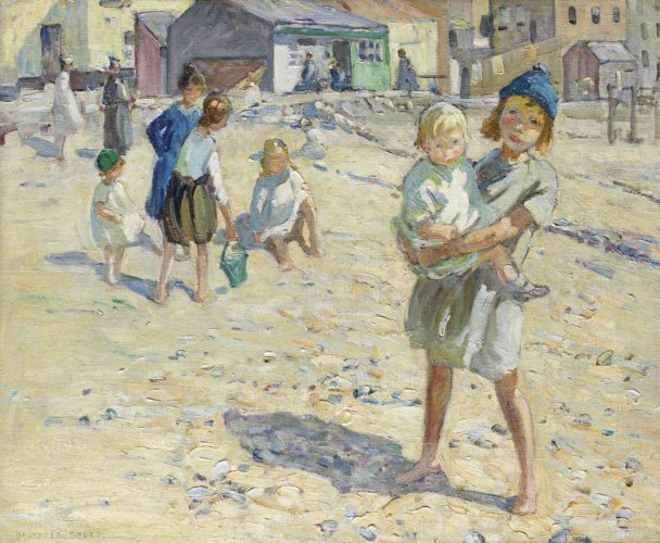Dorothea Sharp, Summertime, Oil on Canvas, 25 x 30 inches, signed